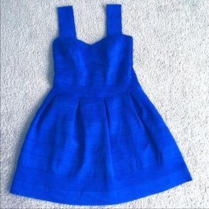 Blue bandage style dress